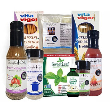 Diet Standard Food Pack Featuring Simple Girl Dressing, BBQ Sauce, Seasonings (9 Piece, for Use on Most Diet Plans)