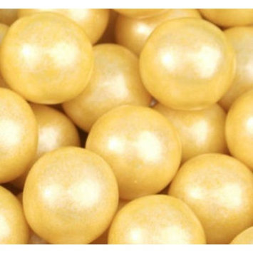 Shimmer Pearlescent Yellow 1 Inch Gumballs 1LB Bag