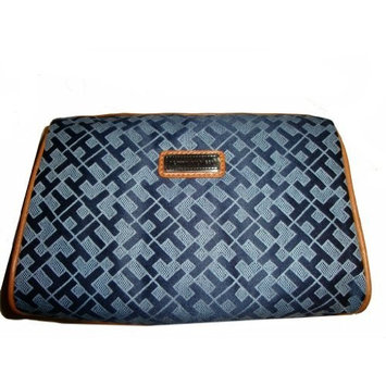 Tommy Hilfiger Women's Cosmetic/Make-up/Toiletry Bag, Navy/Light Blue Alpaca