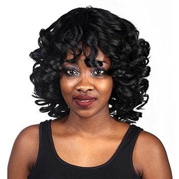 QianBaiHui Female Kinky Curly Wigs For Black Women Synthetic Hair Women Wigs African American Full Short Curly Black Hair Wigs