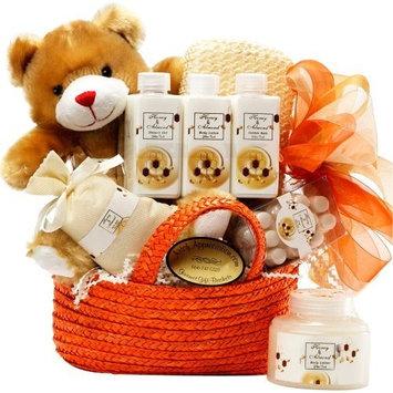 Honey Bear Spa Bath and Body Set Gift Basket [Honey Almond]