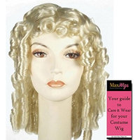 Bargain Southern Belle Color Red - Lacey Wigs Colonial Scarlett 18th Century Spiral Curls Style AT837 Bundle with MaxWigs Costume Wig Care Guide