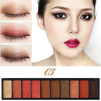 Fashion Pearl Matte Nude Eye Shadow 10 Colors Eyeshadow Palette Luxury Golden EyeShadow Saingace