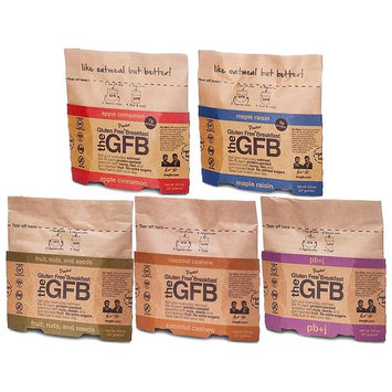 The GFB Gluten Free Power Oatmeal Breakfast, Vegan, Certified Gluten-Free, NON-GMO Variety Sampler Package (10 Count)