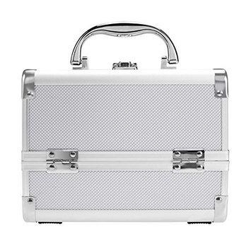 Eshion Lockable Makeup Train Case Cosmetic Organizer Makeup Travel Box