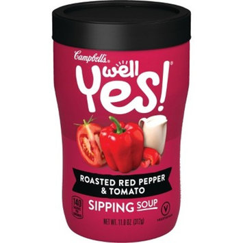Campbell's Well Yes! Roasted Red Pepper & Tomato Sipping Soup - 11.2oz