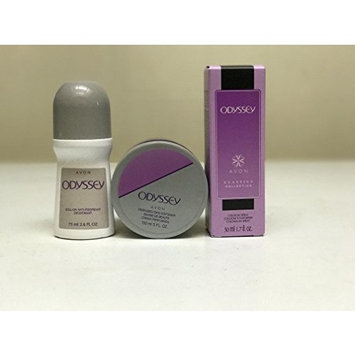 Avon Odyssey Cologne Spray, Skin Softener, and Roll-on