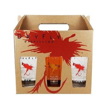 Dry Fly Gift Pack, Vodka/Gin/Wheat Whiskey, 375 ml