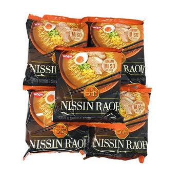 Nissin RAOH Ramen Noodle Soup, Umami Miso, 107 Gram (Pack of 5)