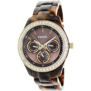 Fossil Es2795p Stella Multifunction Tortoise Resin Watch By Fossil 1 Pc Watch For Women