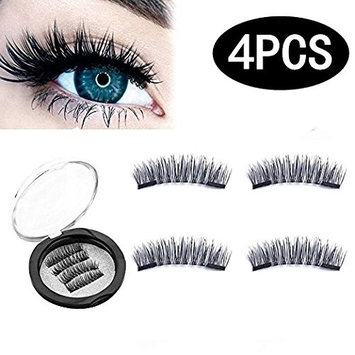 Magnetic Eyelashes - 3D Ultra Thin Triple Magnets, Full Set Lashes, No Glue, Reusable, Cruelty Free - By Glam Lashes