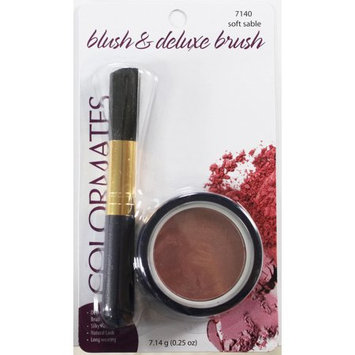 Sf & B Colormates, Inc Colormates Blush & Deluxe Brush Soft Sable Pack of 4