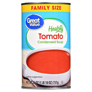 Morgan Foods Inc Great Value Healthy Tomato Condensed Soup Family Size, 26 oz