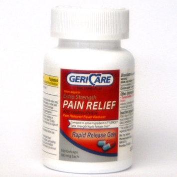 GERICARE Mapap Acetaminophen 500 mg Gelcaps Model: 251-01-GCP