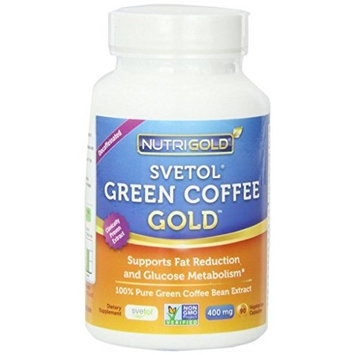 NutriGold Pure Green Coffee Bean Extract - 400 mg - Svetol - 90 Vegetarian Capsules - Weight-Loss Supplement
