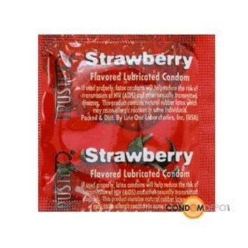 Trustex Strawberry Flavored Condoms - Pack Size - 12 Pack [12]