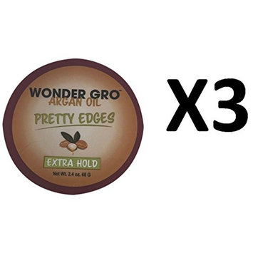 ARRIVAL [PACK OF 3] WONDER GRO ARGAN OIL PRETTY EDGES EXTRA HOLD 2.4OZ