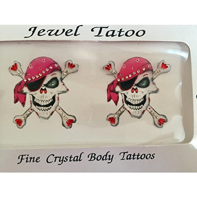 Pirate cross bones from Definitions covers with fine beads and Swarovski stonesOriginal product covers the breast good