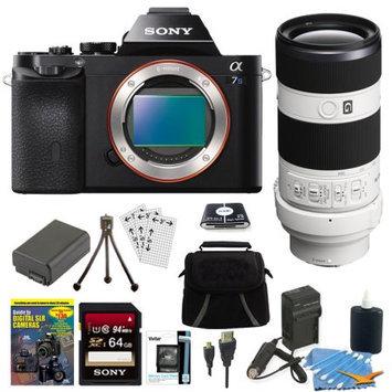 Sony ILCE-7S/B a7S Full Frame Camera + SEL 70-200mm F4 G OIS Lens Accessory Bundle