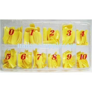 Nail Tips Yellow 550 Pcs/Box
