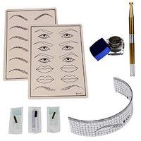 Vovotrade Permanent Makeup Microblading Eyebrow Tattoo kit Pen Needle Paste Skin Ruler