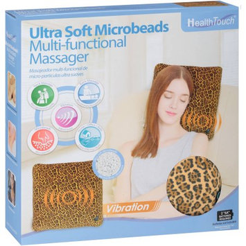 Leader Light Limited Health Touch Ultra Soft Microbeads Multi-Functional Massager, Cheetah