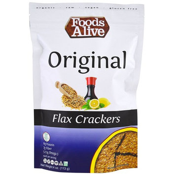 Foods Alive, Flax Crackers, Original, 4 oz(Pack of 2)