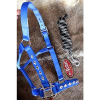 Horse Nylon HALTER Lead Rope Bling Tack Noseband 60693