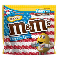 Mars Chocolate M'S Red, White & Blue Peanut Chocolate Candy Bag, 42 oz