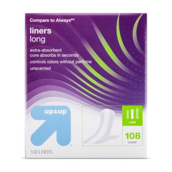Pantiliners - Long - Unscented - 108 ct - up & up™