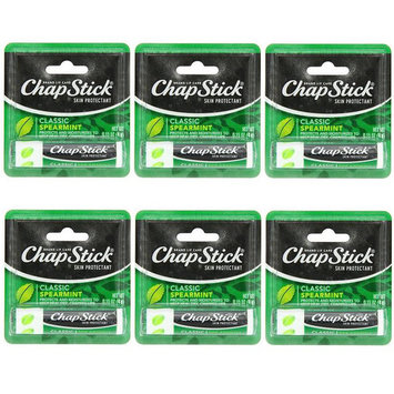 6 Pack - ChapStick Classic Spearmint Lip Balm, 0.15oz Each