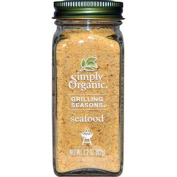 Simply Organic, Grilling Seasons, Seafood, Organic, 2.2 oz(Pack of 2)