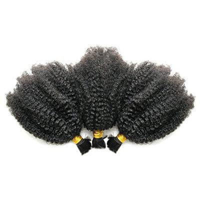 Ms Fenda Hair 3 Bundles/lot 10.5oz(300gram) Afro Kinky Curly 4B-4C Kinky Curly Style Virgin Brazilian Human Hair Bulk for Braiding(14