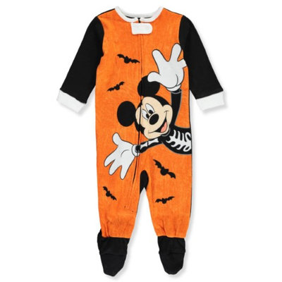 Fisher-price Mickey Mouse Baby Boys' Footed Coverall - orange/multi, 3 - 6 months