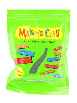 Makin's No Bake Polymer Clay 60 g, grape leaf [pack of 6]