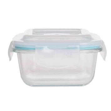 Home Basics Rectangular Borosilicate Glass Food Storage Container