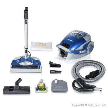 Blue Prolux TerraVac 5 Speed Quiet Vacuum Cleaner with sealed HEPA Filter and Upgraded Head