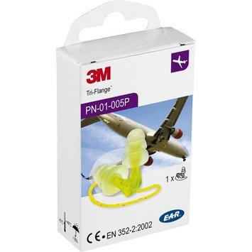 3M™ E-A-R™ Tri-Flange™ Earplugs, 29 dB, Vinyl Cord, 1 Pair/Box, Pharma Pack [Protection for Travelling]
