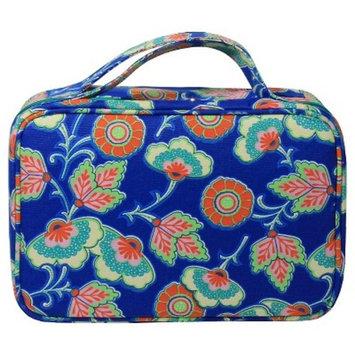 Contents Cobalt Blossom Weekender Cosmetic Bag