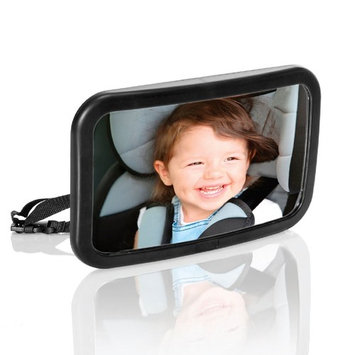 Baby Car Mirror for Back Seat   Infant Car Mirror   View Rear Facing Infant in Backseat   CRASH TESTED Best Newborn Safety Secure Double-Strap Extra Large Shatterproof Easy... [a]