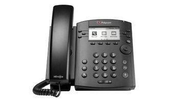 Polycom - 2200-46161-019 - VVX 310 6-line Desktop Phone (PoE) Gigabit Ethernet Skype for Business Edition