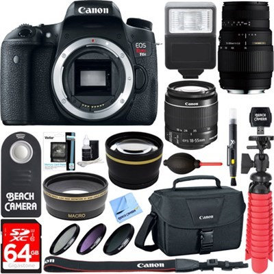 Canon EOS Rebel T6s DSLR Camera with EF-S 18-55mm IS STM & 70-300mm Lens Accessory Kit