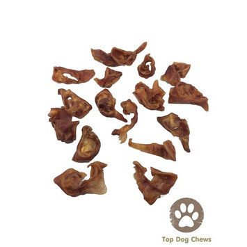 Top Dog Chews - 1 Pound Pig Ears Strips for Dogs - 100% Natural Bulk Dog Chews (2LB)