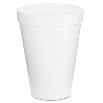 Dart Container Corp. 12J12 Foam Cups, 12 oz, White (Pack of 1000)