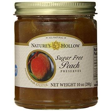 Nature's Hollow Sugar-Free Peach Jam Preserves, 10 Ounce [Peach]