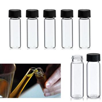 Atb 100 Mini Clear Glass Vial Bottles Cap Lab Vials Bottle 1 3/4 Tall 1/8 Oz Tubes