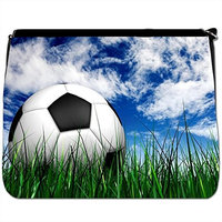Football in the Park Grass Waiting to Play Black Large Messenger School Bag [Football in the Park Grass Waiting to Play]