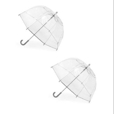 totes ISOTONER Kids Clear Bubble Umbrella (Pack of 2), Clear/Clear