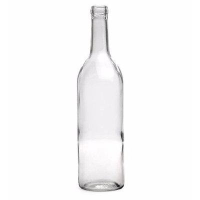 750 Ml Clear Wine Bottles, Cork Finish