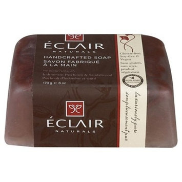 Eclair Naturals Indonesian Patchouli & Sandalwood Handcrafted Bar Soap - 6oz